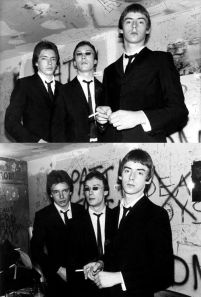 The Jam backstage at CBGBs, photos by Ebet Roberts 1977